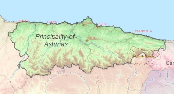 Tourist map of Asturias