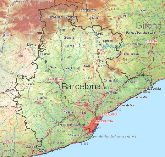 Tourist map of Barcelona