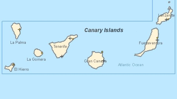 Tourist map of Canary Islands