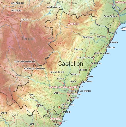 Tourist map of Castellón