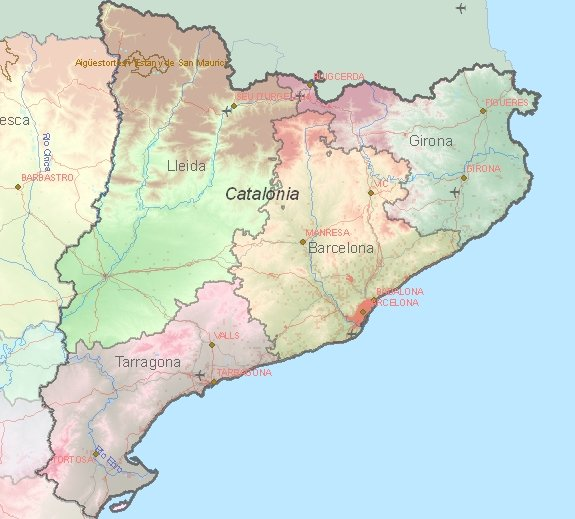 Tourist map of Catalonia
