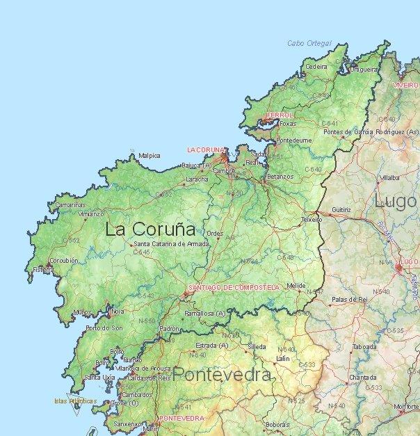 Map La Coruna Spain