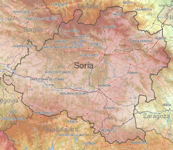 Tourist map of Soria